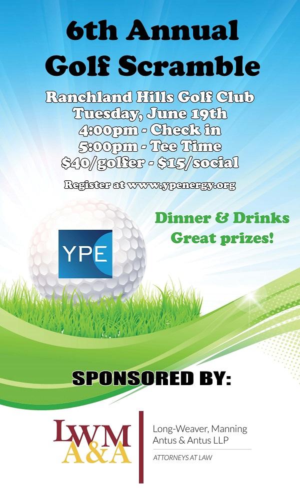 YPE Golf Scramble 2018