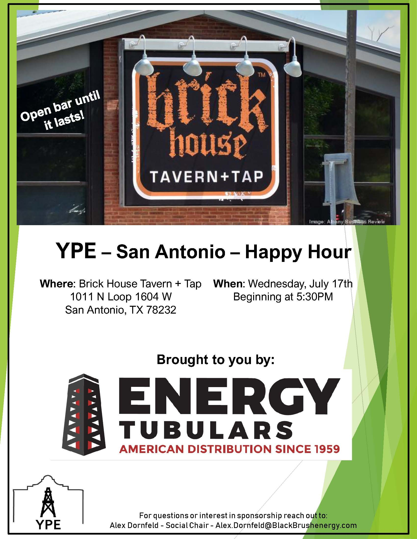 Happy Hour Flyer - BTT